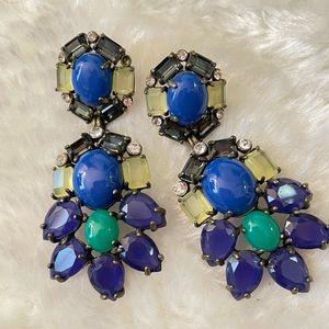 Stella & Dot Blue statement earrings